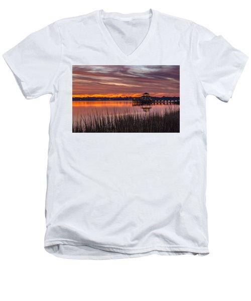 Brittlebank Park Dock Charleston Sc Men's V-Neck T-Shirt