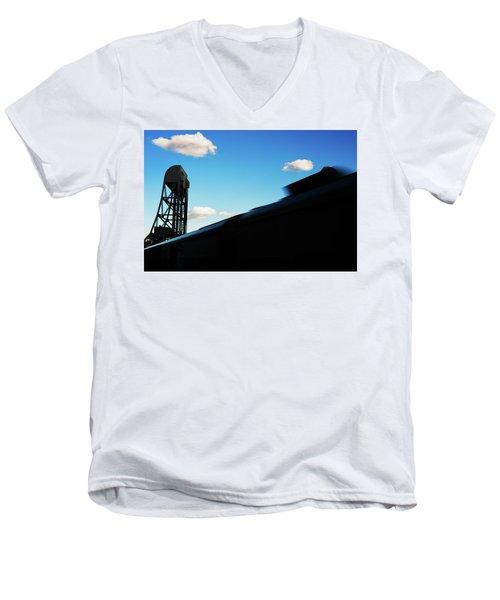 Broadway Bridge Abstract 1 Chromatic Men's V-Neck T-Shirt