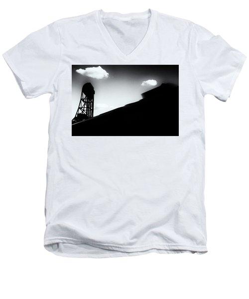 Broadway Bridge Abstract 1 Monochrome Men's V-Neck T-Shirt