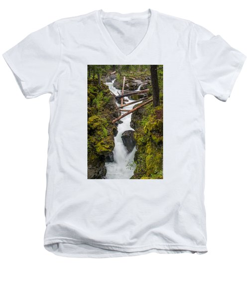 Broiling Rogue Gorge Men's V-Neck T-Shirt by Greg Nyquist