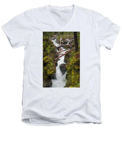 Broiling Rogue Gorge Men's V-Neck T-Shirt