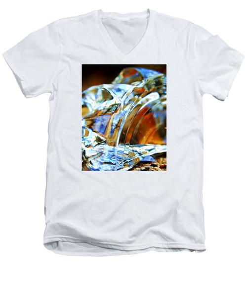 Broken Glass In A Stairwell Men's V-Neck T-Shirt