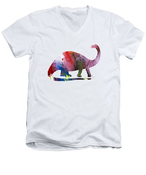 Brontosaurus Men's V-Neck T-Shirt