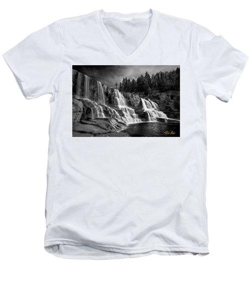 Brooding Gooseberry Falls Men's V-Neck T-Shirt