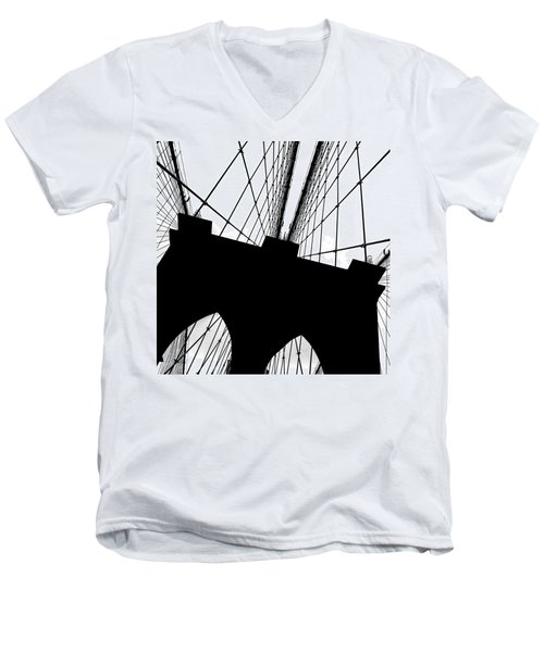 Brooklyn Bridge Architectural View Men's V-Neck T-Shirt