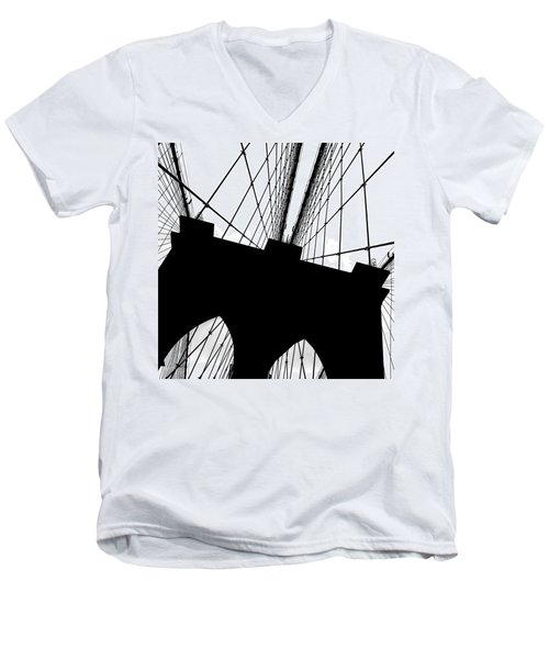 Brooklyn Bridge Architectural View Men's V-Neck T-Shirt