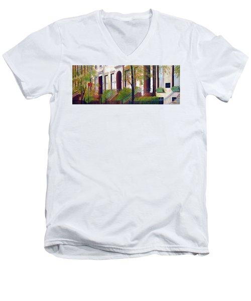 Brooklyn Brownstone Corridor 2 Men's V-Neck T-Shirt