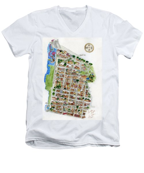 Brooklyn Heights Map Men's V-Neck T-Shirt