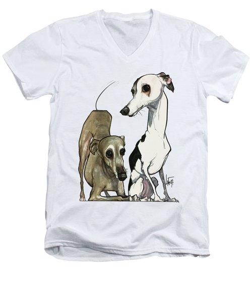 Brown 7-1512 Men's V-Neck T-Shirt