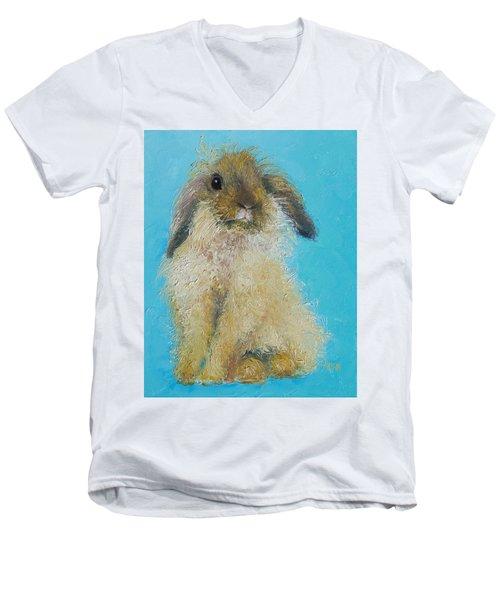 Brown Easter Bunny Men's V-Neck T-Shirt