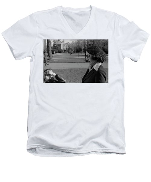 Brown University Student And His Mother, 1975 Men's V-Neck T-Shirt