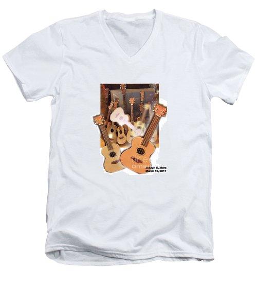 Bruce's Ukuleles Men's V-Neck T-Shirt