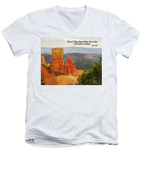 Men's V-Neck T-Shirt featuring the photograph Bryce Canyon by Jim Mathis