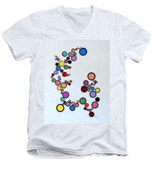 Bubbles2 Men's V-Neck T-Shirt by Thomas Gronowski