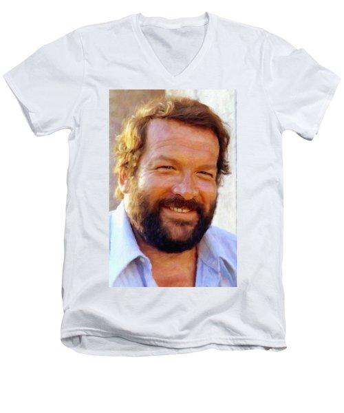 Bud Spencer Men's V-Neck T-Shirt