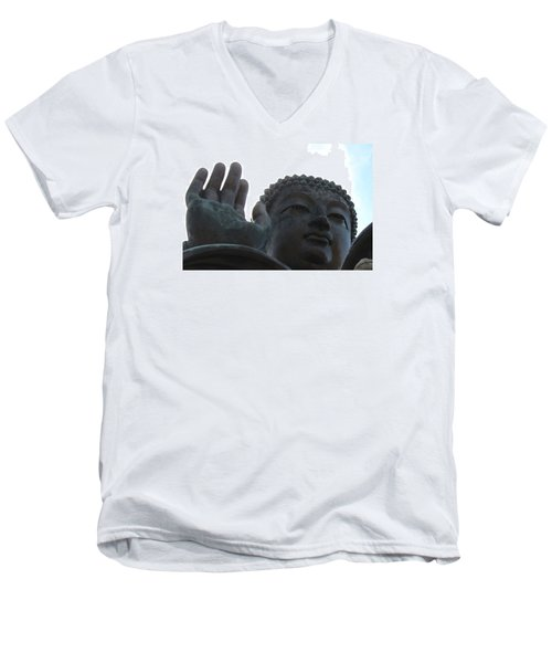Buddha At Ngong Ping Village, Hong Kong Men's V-Neck T-Shirt by Jennifer Mazzucco