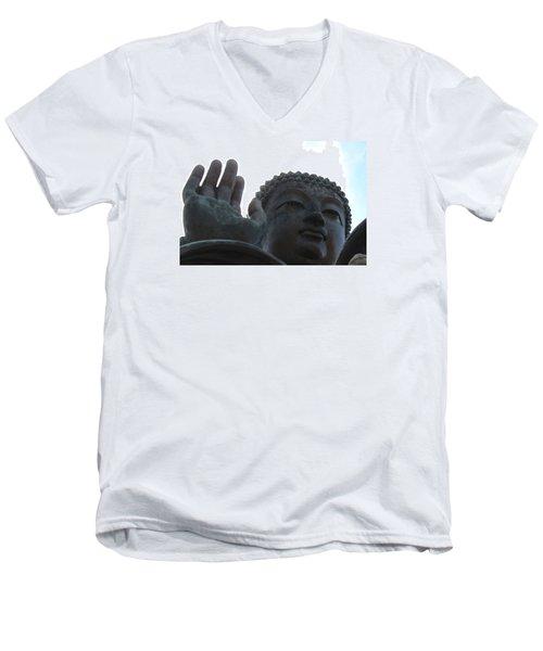 Buddha At Ngong Ping Village, Hong Kong Men's V-Neck T-Shirt