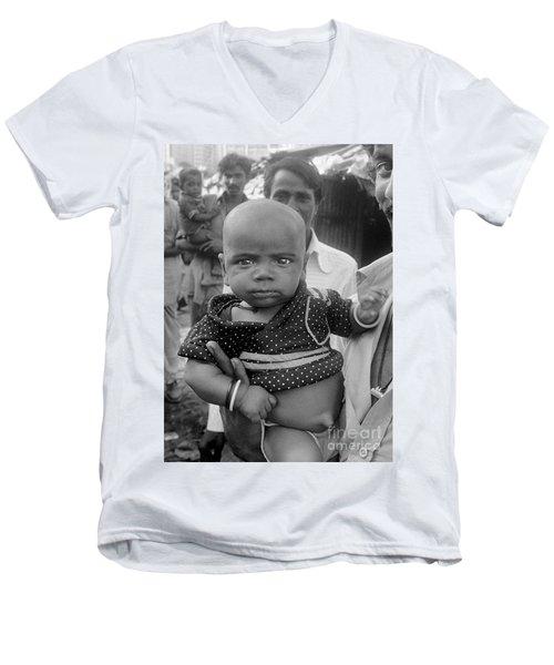 Buddha Baby, Mumbai India  Men's V-Neck T-Shirt