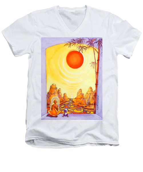 Buddha Meditation Men's V-Neck T-Shirt