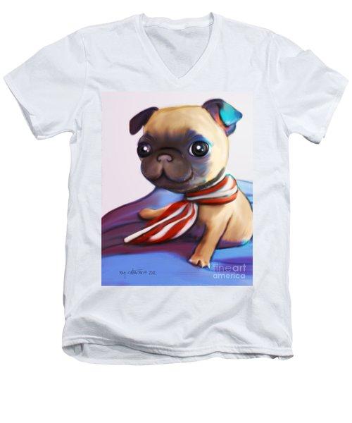 Buddy The Pug Men's V-Neck T-Shirt