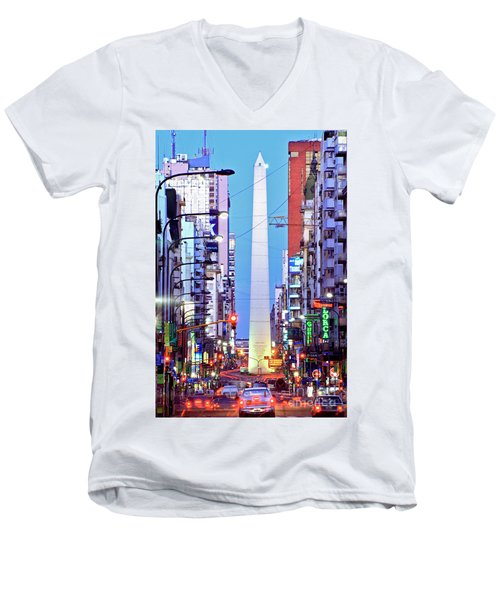 Buenos Aires Obelisk Men's V-Neck T-Shirt
