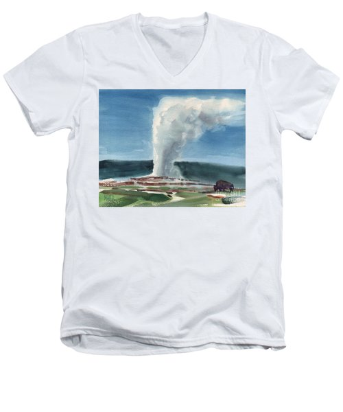 Buffalo And Geyser Men's V-Neck T-Shirt