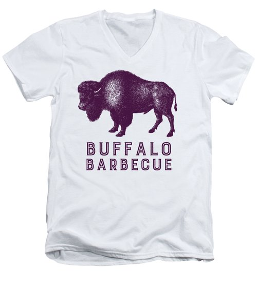 Buffalo Barbecue Men's V-Neck T-Shirt by Antique Images