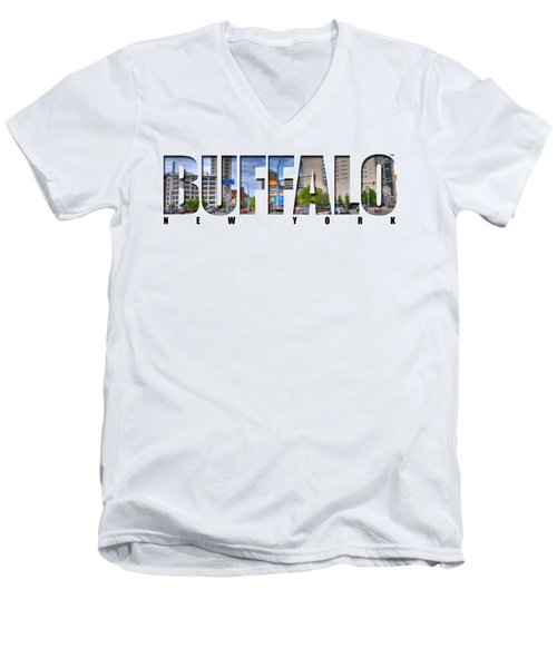 Buffalo Ny Entering Downtown Men's V-Neck T-Shirt