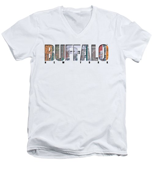 Buffalo Ny Snowy Downtown Men's V-Neck T-Shirt
