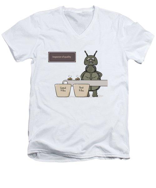 Bug As A Inspector Of Quality Men's V-Neck T-Shirt