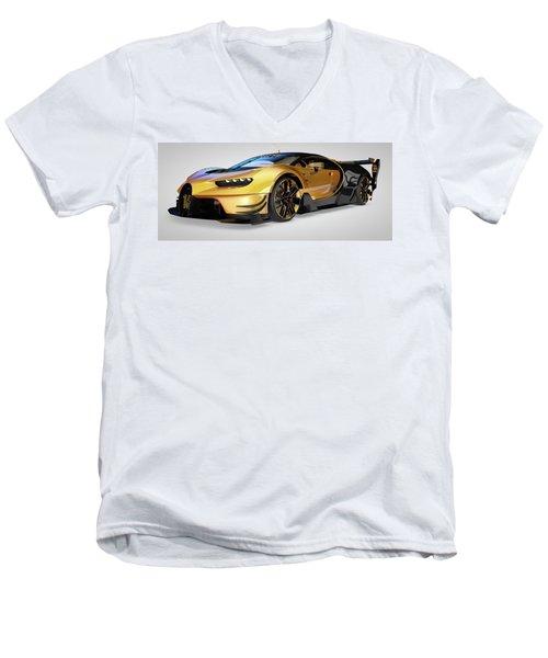 Bugatti Vision Gran Turismo Men's V-Neck T-Shirt