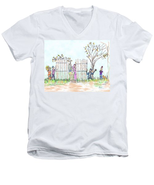 Building The Sukkot Men's V-Neck T-Shirt