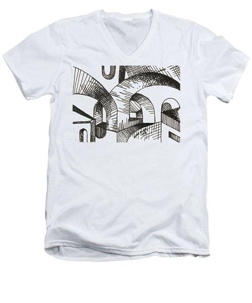 Buildings 1 2015 - Aceo Men's V-Neck T-Shirt by Joseph A Langley