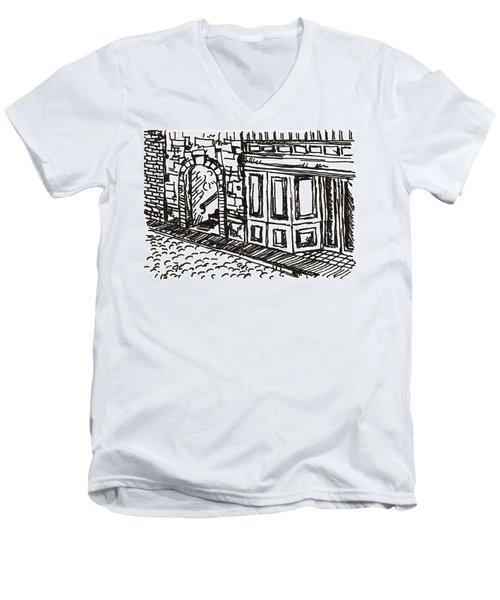 Buildings 2 2015 - Aceo Men's V-Neck T-Shirt by Joseph A Langley