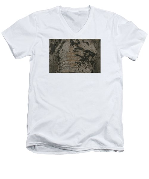 Men's V-Neck T-Shirt featuring the photograph Bull Elephant Close-up by Gary Hall