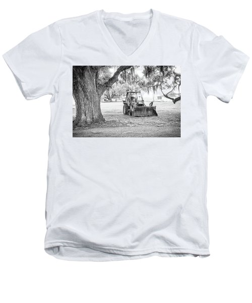 Bulldozer Men's V-Neck T-Shirt