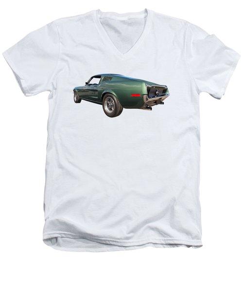 Bullitt - 1968 Mustang Fastback Men's V-Neck T-Shirt