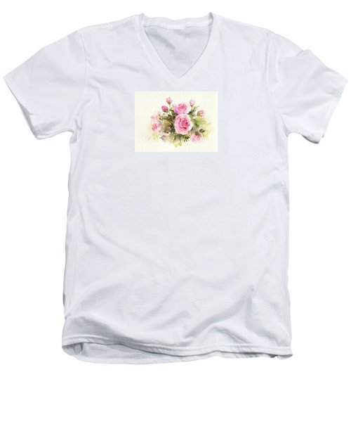 Bunch Of Roses Men's V-Neck T-Shirt
