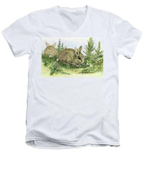 Bunnies Men's V-Neck T-Shirt