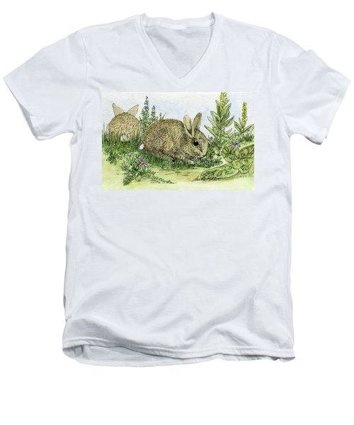 Bunnies Men's V-Neck T-Shirt