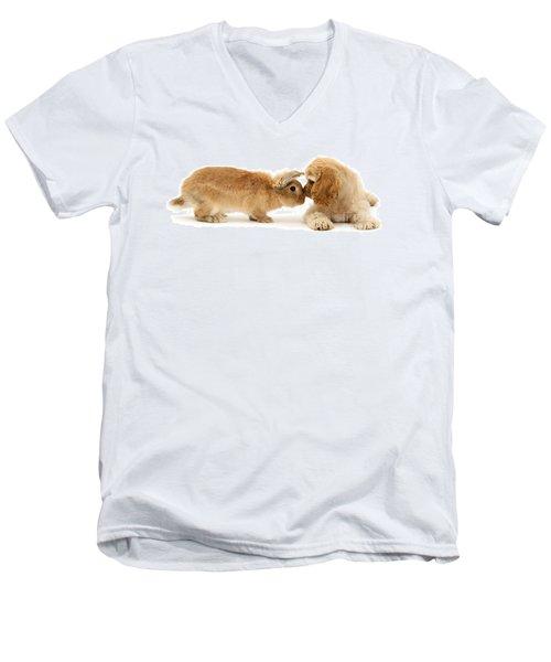 Bunny Nose Best Men's V-Neck T-Shirt