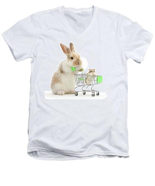 Bunny Shopping Men's V-Neck T-Shirt