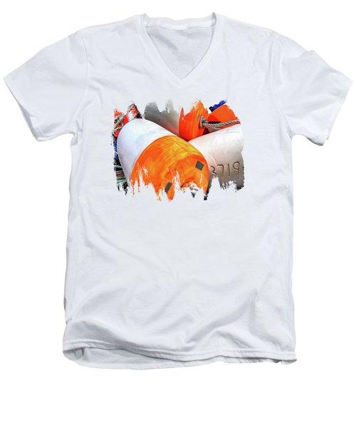 3719 Men's V-Neck T-Shirt