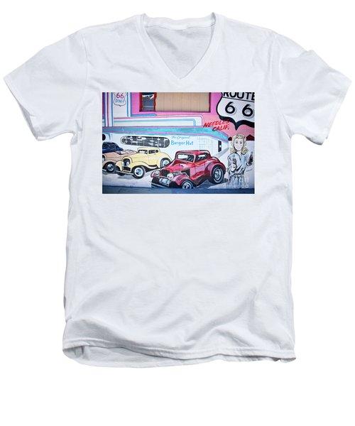 Burger Hut Men's V-Neck T-Shirt