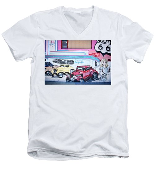 Burger Hut Men's V-Neck T-Shirt