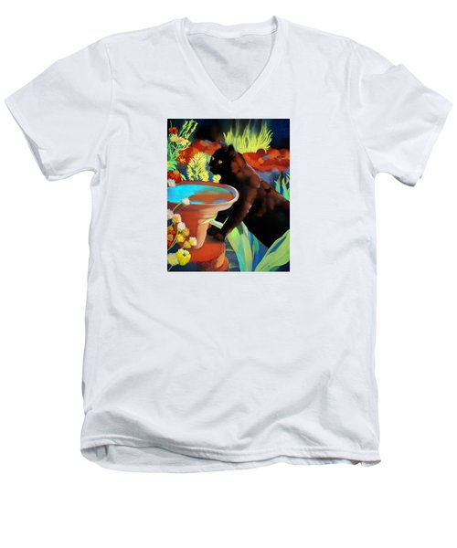 Burmese Afternoon Men's V-Neck T-Shirt by Marika Evanson