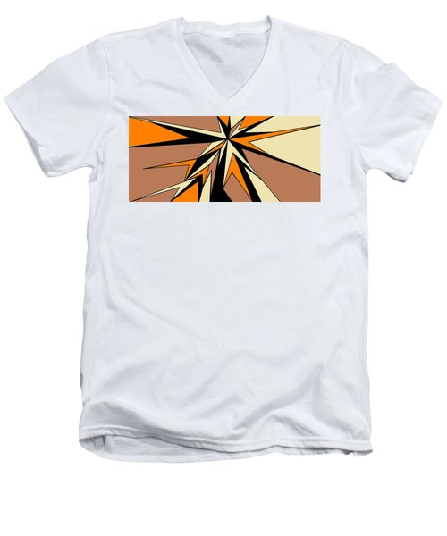 Burst Of Orange 2 Men's V-Neck T-Shirt