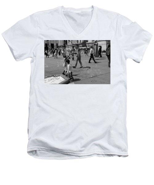 Burst Your Bubble Men's V-Neck T-Shirt