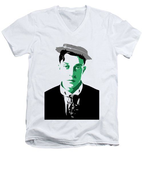 Buster Keaton Men's V-Neck T-Shirt