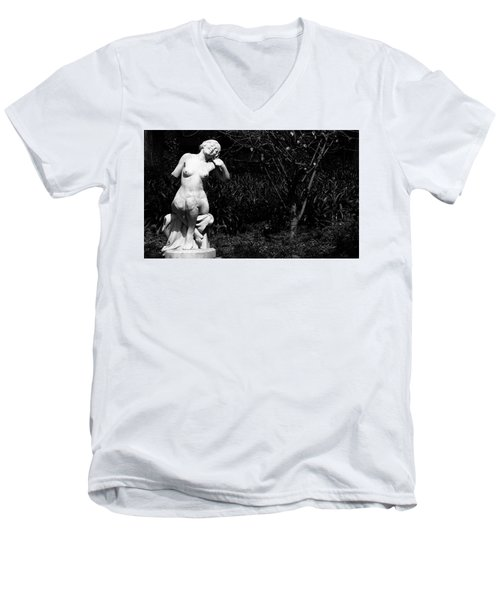 Men's V-Neck T-Shirt featuring the photograph But Still Smiling by Lorraine Devon Wilke
